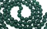 Giada verde Japa Mala 108 grani di larghezza ciascuno di 6 mm, più 1 più grande perline guru, 31 pollici di lunghezza, con pietre preziose reali, per l'uso in meditazione o come una collana