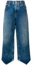- Mm6 Maison Margiela - Jeans cropped - women - cotone/fibra sintetica - 42, 44 - di colore blu