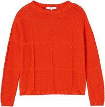 FIND Textured Check Stitch  Felpa Donna, Rosso (Sports Red), 52 (Taglia Produttore: XXX-Large)