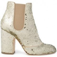 - Laurence Dacade - Mila sequin ankle boots - women - pelle/paillettes - 36.5, 40, 38.5, 37 - di colore giallo