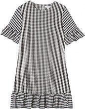 FIND Frill Hem  Vestito Donna, Nero/Bianco (Black), 42 (Taglia Produttore: Small)