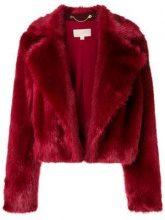- Michael Michael Kors - Pelliccia ecologica corta - women - acrilico/fibra sintetica - M - di colore rosso