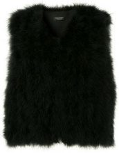 - Yves Salomon - fur gilet - women - Polyester/Turkey Feather - 38 - di colore bianco