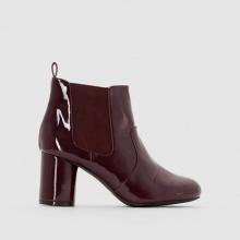 Boots vernice con tacco