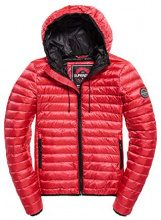 Superdry Core Down Hooded Jacket, Giacca Sportiva Donna, Rosso (Raspberry 46j), Small (Taglia Produttore:10.0)