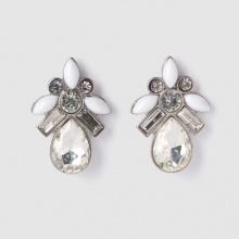 Orecchini, perle e strass fantasia