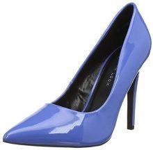 New Look Wide Foot Scramble, Scarpe col Tacco Punta Chiusa Donna, Blu (Mid Blue 40), 36 EU