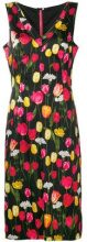 - Dolce & Gabbana Vintage - floral print mid - length dress - women - fibra sintetica/seta/acetatofibra sintetica - 44 - di colore nero