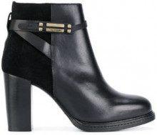 - Tommy Hilfiger - Stivali alla caviglia con pannelli - women - cotone/Leather/Rubber/Calf Leather - 40, 37, 41 - di colore nero