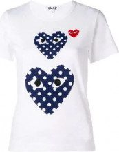 - Comme Des Garçons Play - polka dot heart T - shirt - women - Cotone - M, L, XS , S - Bianco
