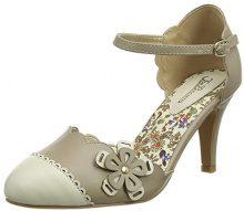 Joe Browns Broadway Babe Shoes, Scarpe con Cinturino alla Caviglia Donna, Beige (Taupe A), 38 EU