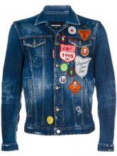 - Dsquared2 - Giacca denim Boy Scout - men - fibra sintetica/cotone - 48 - di colore blu