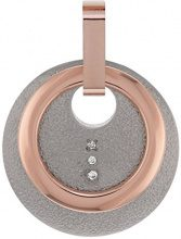 Boccia dreambase-Ciondolo in titanio dorato con parte (0,015 Ct) trasparente - con taglio a brillante 0789-04