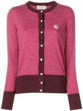 - Maison Kitsuné - Cardigan 'Fox' - women - lana - XS - di colore rosa