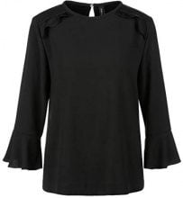 Marc Cain Collections KC 51.28 W01, Blusa Donna, Nero (Black 900), 44