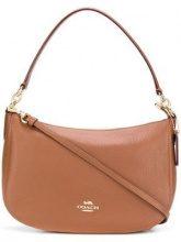 - Coach - zipped logo shoulder bag - women - pelle - Taglia Unica - color marrone
