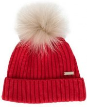 - Woolrich - Berretto con pompon - women - pelliccia di procione/fibra sintetica/lana vergine/fibra sinteticacashmere - S - di colore rosso