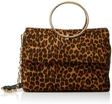 New Look Leopard Matilda - Borse a tracolla Donna, Marrone (Brown Pattern), 5x17.5x25.5 cm (W x H L)