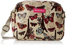 SwankySwans Noel Paris Butterfly Floral 3 Pocket, Beige Beige (Beige)