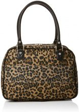 New Look Leopard Cabin - Borse a mano Donna, Marrone (Brown Pattern), 25x38x42 cm (W x H L)