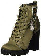 Steve Madden Lowdown, Stivali da Combattimento Donna, Verde (Olive 001), 38 EU