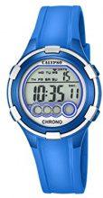 Calypso-Orologio digitale con Display LCD digitale e cinturino in plastica, colore: blu, K5692/4