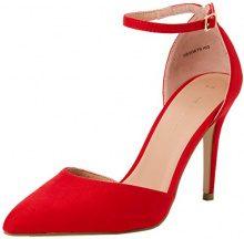 New Look Semper, Scarpe col Tacco Punta Chiusa Donna, Rosso (Bright Red 60), 36 EU