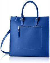 Chicca Borse 8653, Borsa a Mano Donna, Blu (Blue), 35x36x12 cm (W x H x L)