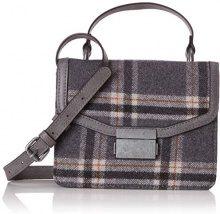 s.Oliver (Bags) City Bag - Borse a tracolla Donna, Grigio (Grey/Black Check), 8x14x18 cm (B x H T)