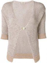 - Blanca - Cardigan con maniche a 3/4 - women - fibra sintetica - 42, 40, 46 - di colore rosa