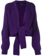- Pinko - Safe tie knot cardigan - women - lana vergine - M, L, XS, S - di colore viola