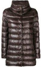 - Herno - padded jacket - women - fibra sintetica/piuma d'oca/cotoneacetato - 46 - color marrone