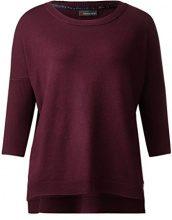 Street One Oversized Pullover, Felpa Donna, Violett (Master Wine 11018), 40 (Taglia produttore: 34)