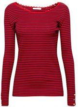 edc by Esprit 098cc1k015, Maglia a Maniche Lunghe Donna, Rosso (Red 630), Medium