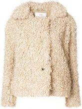 - Closed - artificial fur jacket - women - fibra sintetica - XS - color carne