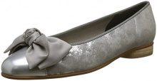 Gabor Shoes Basic, Ballerine Donna, Grigio (Silber/Grau), 40.5 EU