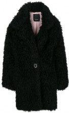 - Pinko - oversized faux fur coat - women - fibra sintetica/acetato/acrilico/mohairfibra sintetica - 38, 46, 40, 42 - di colore nero