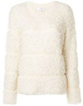 - Carven - Pullover in bouclé - women - alpaca/lana/mohair/fibra sinteticaacrilico - S, M, L - di colore bianco