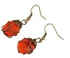 Lureme®retro semplice tono anti-ottone stile elegante con pendente arancione orecchino (02004717)