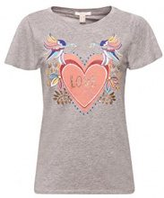 ESPRIT 088ee1k041, T-Shirt Donna, (Medium Grey 5 039)