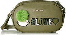 Love Moschino Borsa Pu - Borse a spalla Donna, Verde, 6x13x21 cm (B x H T)