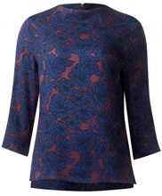 Street One Mat-Mix Turtle Neck, T-Shirt Donna, Blau (Night Blue 30109), 50 (Taglia Produttore: 44)