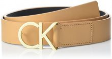 Calvin Klein CK Logo Belt 3.5cm, Cintura Donna, Marrone (Toast 230), 90
