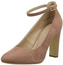 New Look Wide Foot, Scarpe col Tacco Punta Chiusa Donna, Rosa (Light Pink 70), 39 EU
