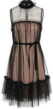 APART Fashion Midnight Forrest-Black-Dip Dye, Vestito Donna, Nero Nude, 42