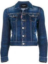 - Dsquared2 - fitted denim jacket - women - Cotone/Spandex/Elastane - 44 - Blu