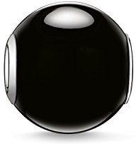 Thomas Sabo–––Uomo di Bead Obsidian Karma Beads in Argento Sterling 925Nero K0002–023–11