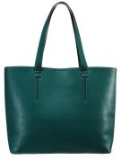 Shopping bag - green/black