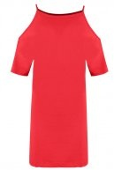 Vestito di maglina - red