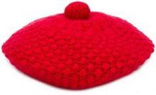 - N.Peal - bramble stitch beret - women - cashmere - Taglia Unica - di colore rosso